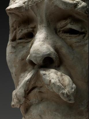 Clemenceau, by Rodin, cast 1925